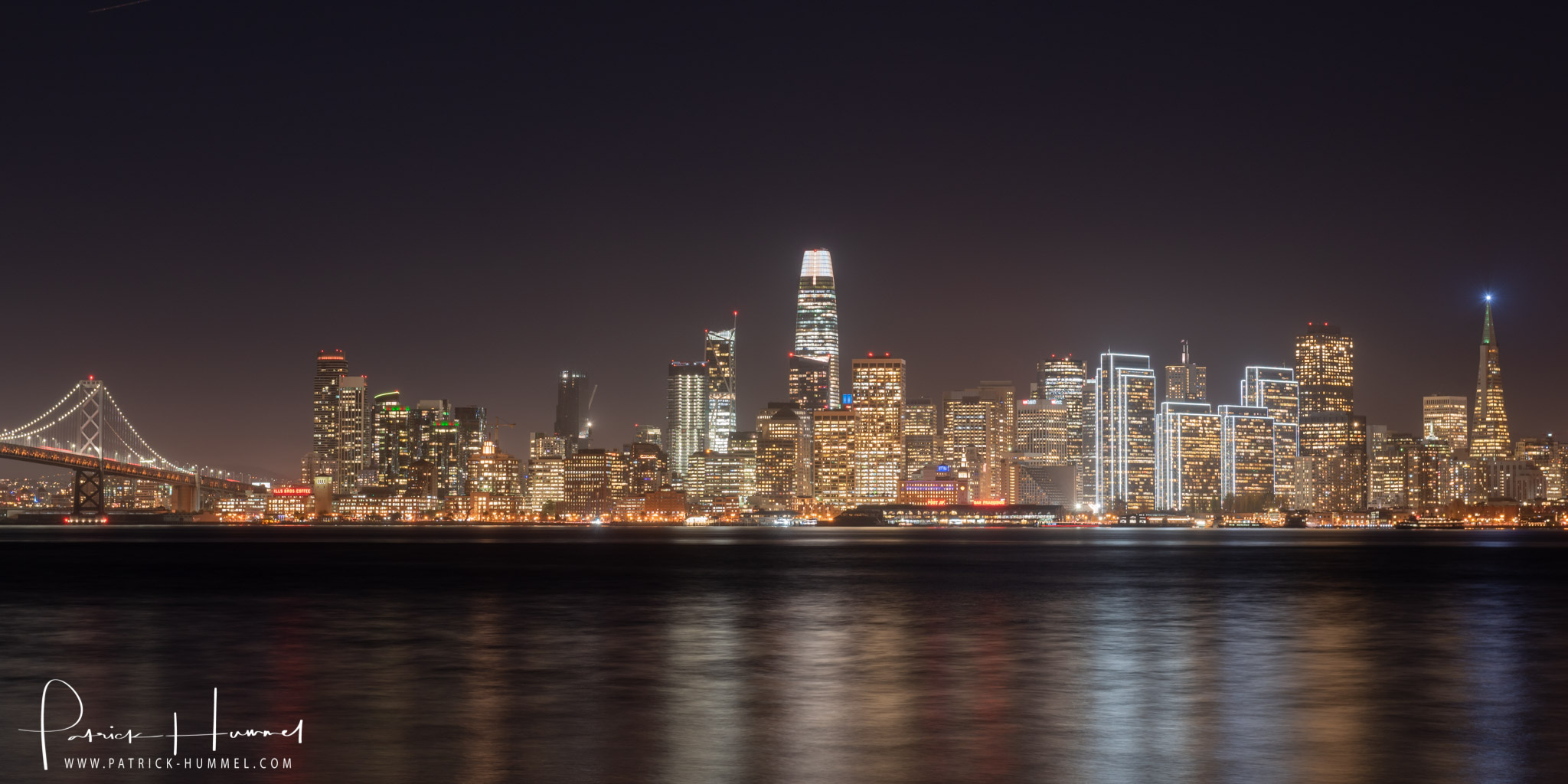 San Francisco Skyline bei Nacht, Treasure Island